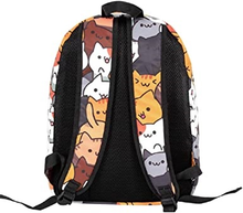 Load image into Gallery viewer, Neko Atsume Casual Canvas Backpack School Bag