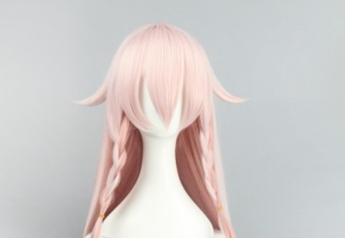 vocaloid ia long cosplay wigs peach color