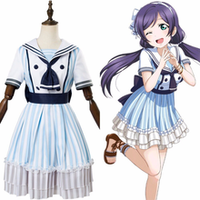 Load image into Gallery viewer, Lovelive Tojo Nozomi Navy Costume Cosplay Costume