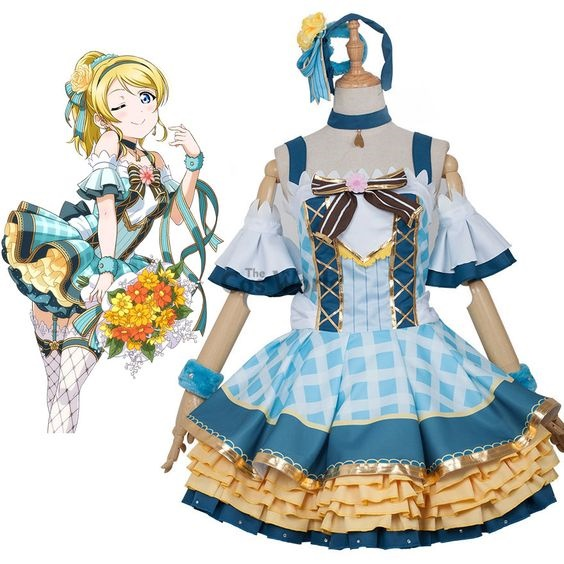 Lovelive School Idol Project Eli Ayase Dress Uniform Cosplay Costume