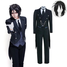 Load image into Gallery viewer, Black Butler Kuroshitsuji Sebastian Michaelis Uniform Outfit Cosplay Costume
