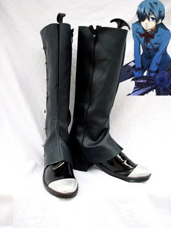 Black Butler Ciel Cosplay Boots Black Shoes