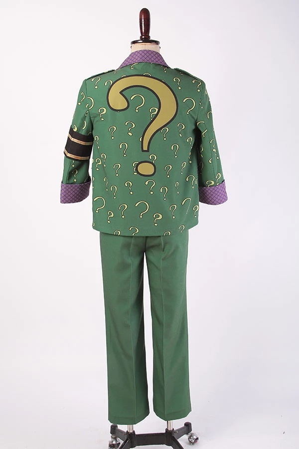 Batman Arkham City The Riddler Dr Edward Nigma Outfit Cosplay Costume