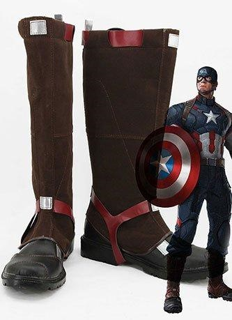 Avengers Age Of Ultron Captain America Steve Rogers Cosplay Shoes