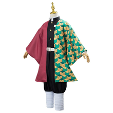 Load image into Gallery viewer, Anime Demon Slayer Kimetsu No Yaiba Tomioka Giyuu Uniform Outfit Cosplay Costume For Kids Children