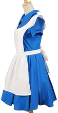 Load image into Gallery viewer, Alice In Wonderland Movie Blue Alice Dress Costume
