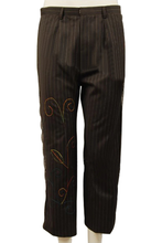 Load image into Gallery viewer, Alice In Wonderland Johnny Depp Mad Hatter Pinstripe Pants