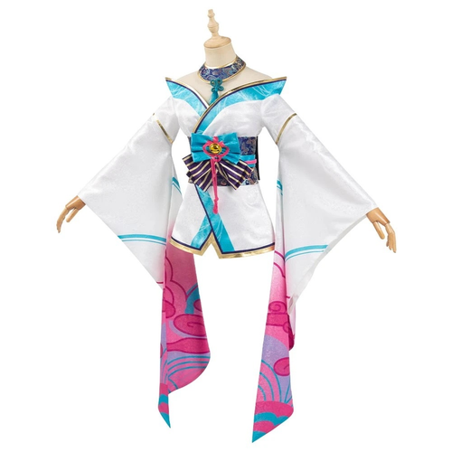 League Of Legends Lol Fox Ahri The Nine Tailed Fox Women Kimono Dress Outfit Halloween Carnival Suit Cosplay Costume