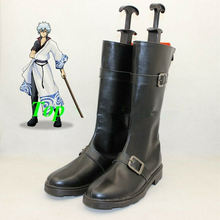 Load image into Gallery viewer, Gin Tama Sakata Gintoki Cosplay Boots Shoes Black