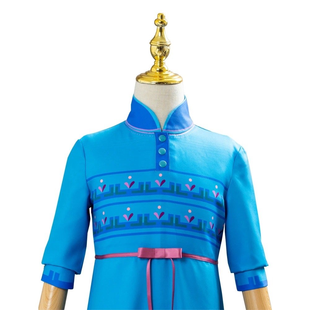 Frozen 2 Princess Anna Fancy Dress Up For Kids Girls Cosplay Costume