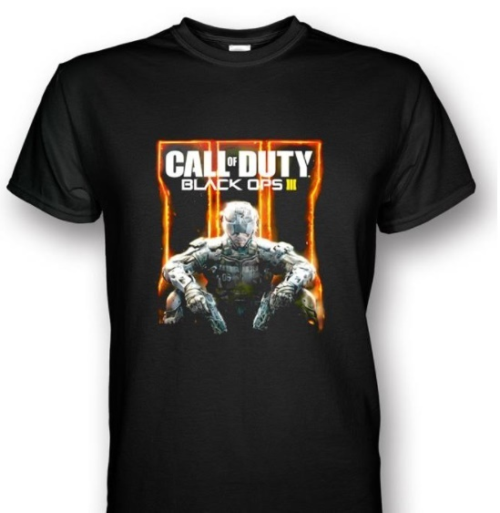 Call Of Duty Black Ops 3 Black Cotton Short T Shirt Costume