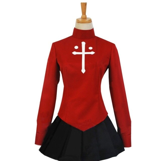 Fate Stay Night Rin T Saka Uniform Outfit Cosplay Costume