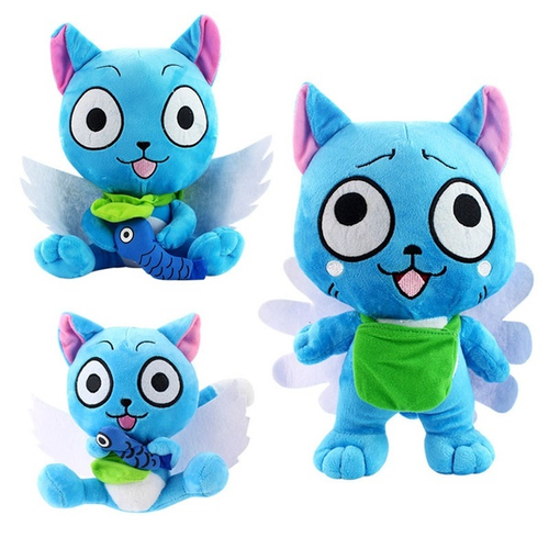 Fairy Tail Anime Happy Cat Doll Stuffed Toy Plush Free Shipping