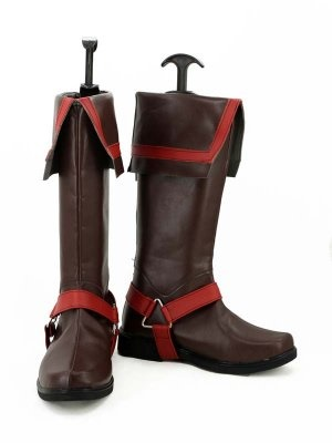 D Gray Man Lavi Jr Bookman Cosplay Boots Brown