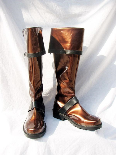 D Gray Man Lavi Cosplay Boots Shoes Dark Brown