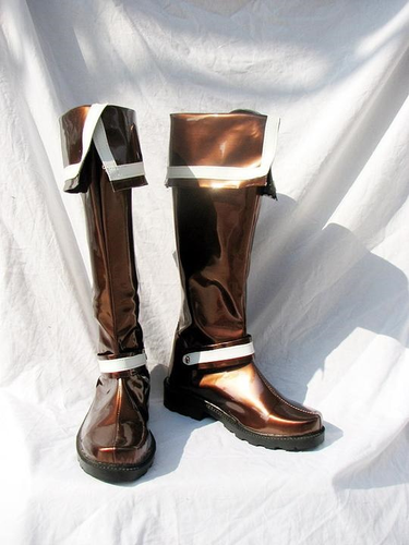 D Gray Man Lavi Cosplay Boots Brown Shoes
