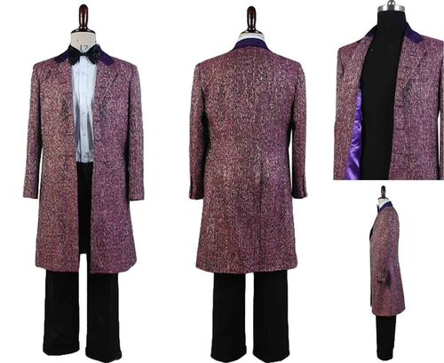 Doctor Who 11Th Doctor Purple Wool Blend Costume Set
