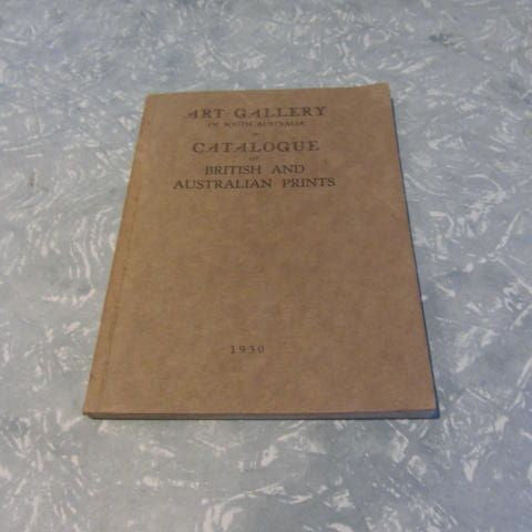 Art Gallery Catalogue of British & Australian Prints Etchings, Engravings, Lithographs