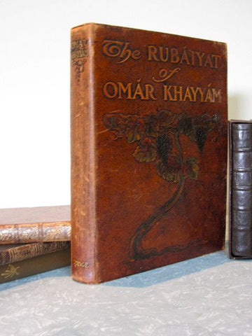 The Rubaiyat of Omar Khayyam Translated into English by Edward Fitzgerald    1912, First Edition, thus. Enhanced with 28 exquisite double-mounted photos of watercolours of Persian life-studies
