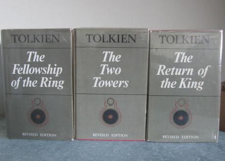 THE LORD OF THE RINGS - Second  Revised Edition  1967, 1968, 1969  2nd, 3rd and 4th impressions  Fine bindings in Very Good to Near Fine Dust jackets
