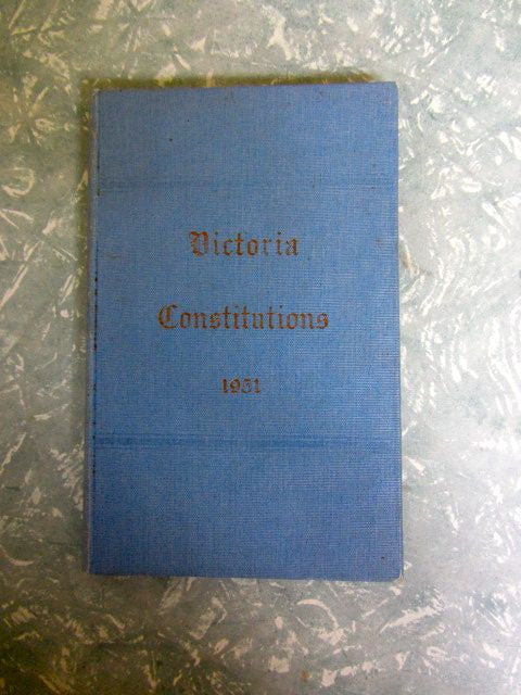 Constitutions of the Grand Lodge of Ancient Free and Accepted Masons of Victoria