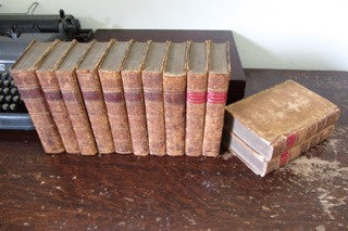 The Plays of William Shakespeare, 1778, in Ten Volumes with the Corrections and Illustrations of Various Commentators; To Which are Added Notes by Samuel Johnson and George Steevens, plus 2 volume Supplement published in 1780.