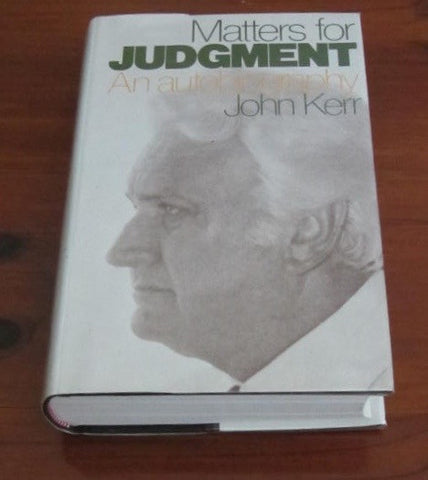 Matters for Judgment  An Autobiography