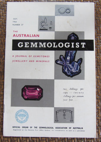 The Australian Gemmologist  A Journal of Gemstones Jewellery and Minerals   November, 1964, Number 41    First Edition    Softcover    Good / Very Good
