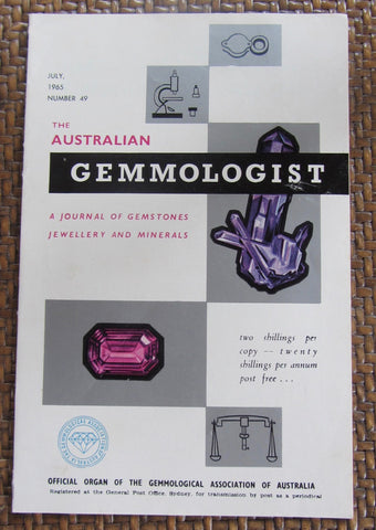 The Australian Gemmologist  A Journal of Gemstones Jewellery and Minerals  April, 1965   Number 46    Softcover   Good / Very Good