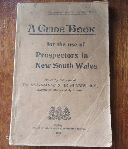A Guide Book for the use of Prospectors in New South Wales