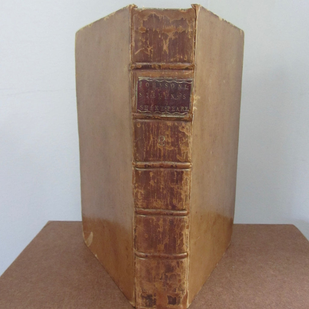 1778 Edition The Plays of William Shakespeare, Volume the Second. Containing Measure for Measure; Comedy of Errors; Much Ado About Nothing; Love's Labour Lost.   Published 1778    William Shakespeare      Good to Very Good