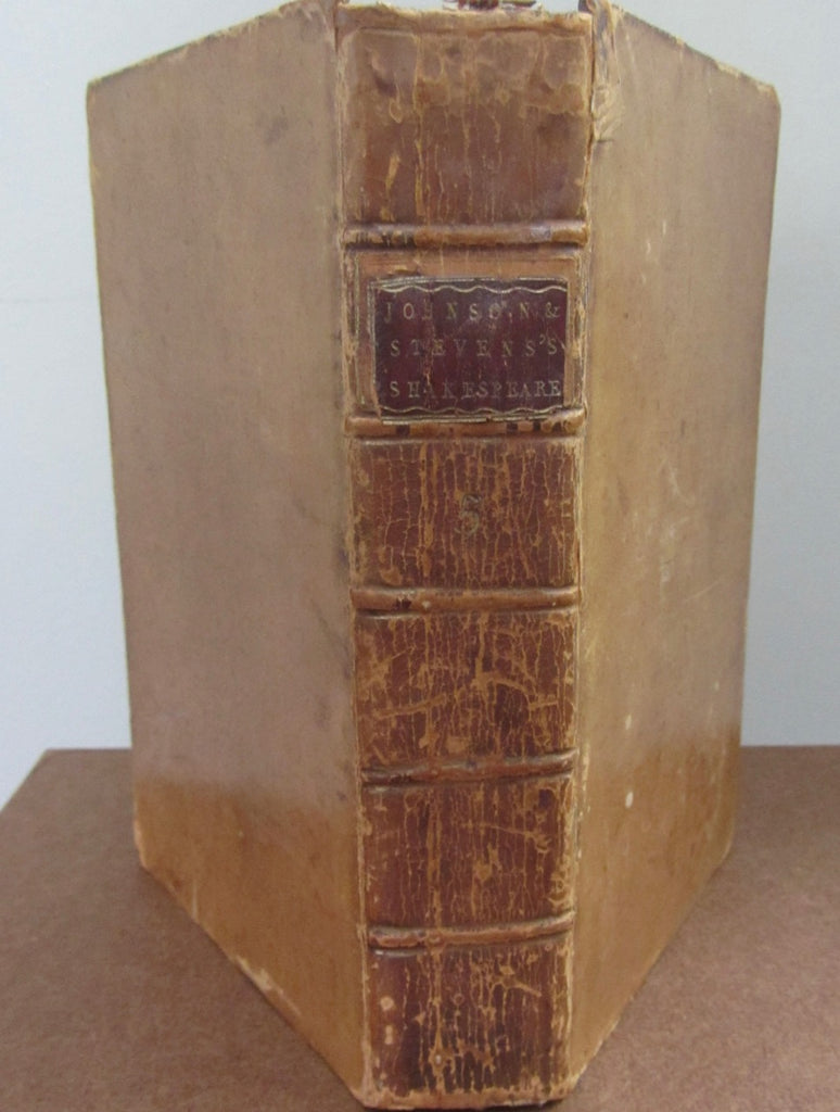 1778 Edition The Plays of William Shakespeare, Volume the Fifth. Containing King John; King Richard II; King Henry IV. Part 1; King Henry IV. Part II.