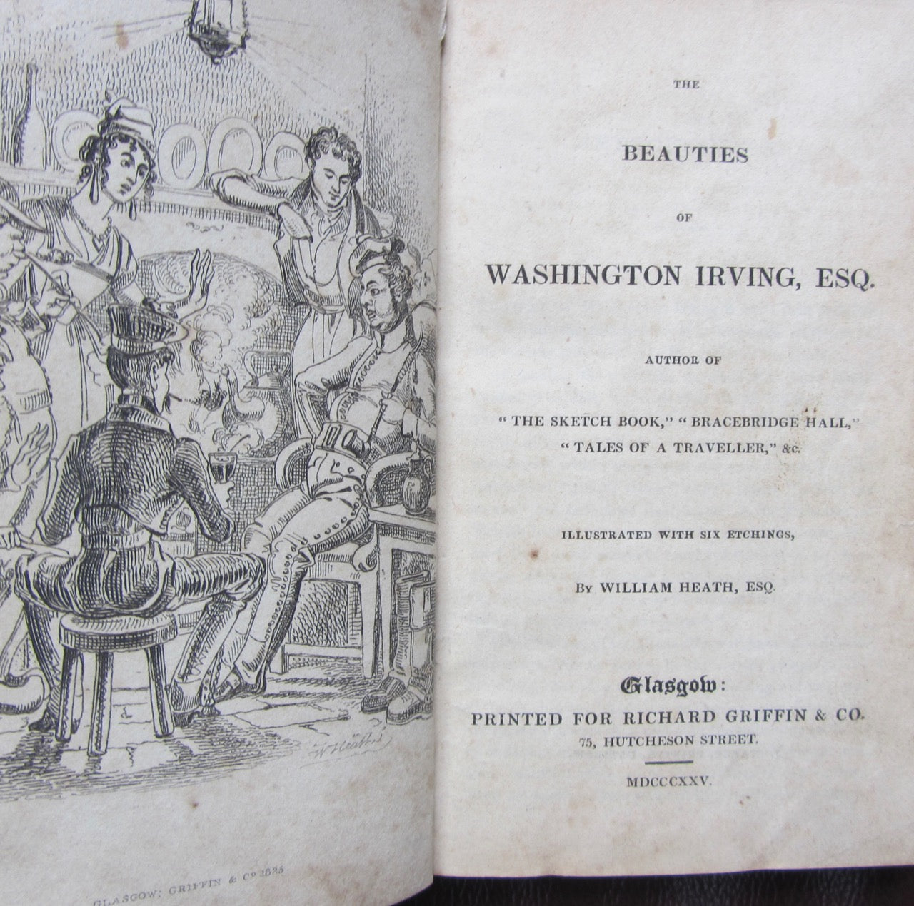 The Beauties of Washington Irving, illustrated with 6