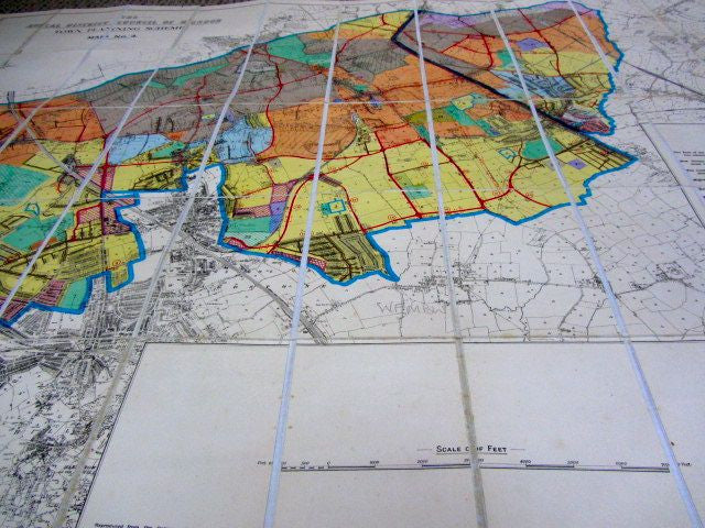 The Rural District Council of Hendon Town Planning Scheme Map No. 4    Collectible Map