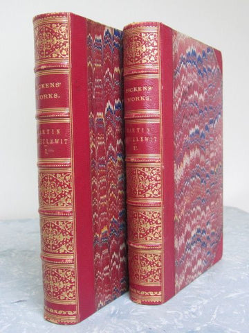 The Life and Adventures of Martin Chuzzlewit  Two Volume Set  1879, Fine / Near Fine