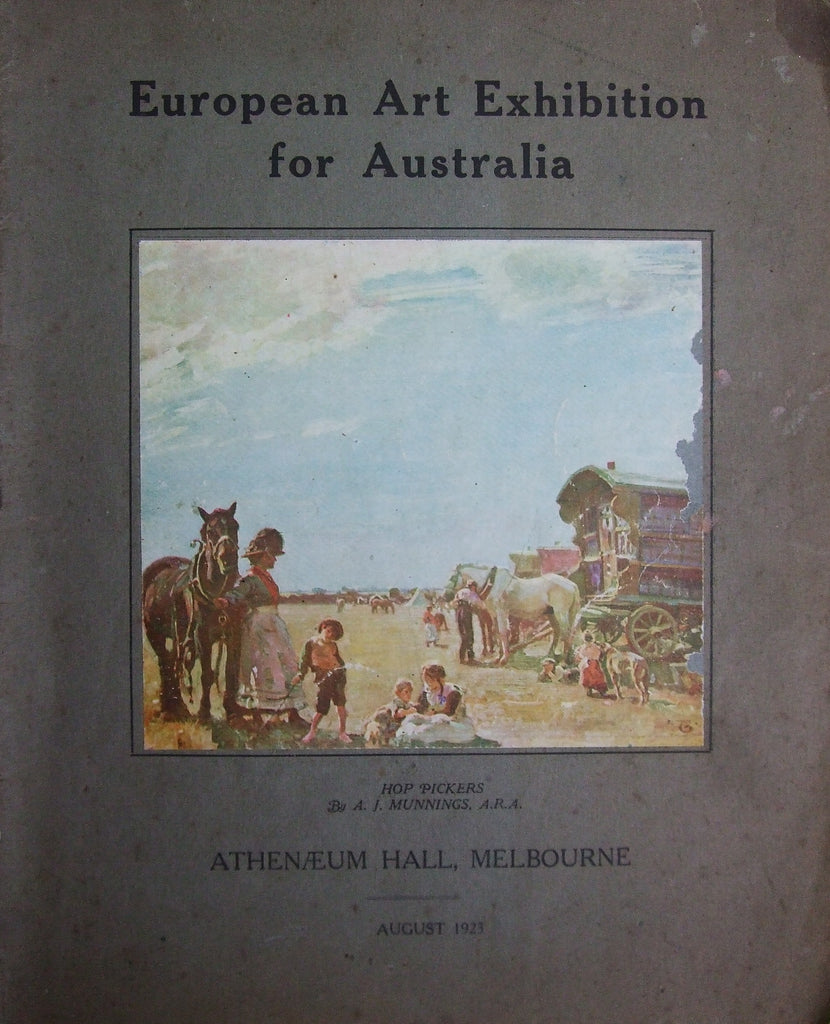 European Art Exhibition for Australia, August 1923
