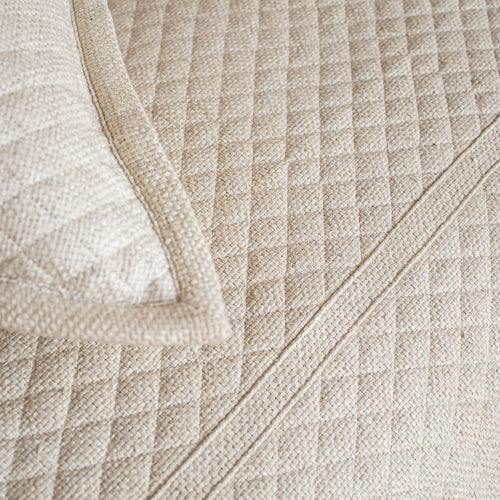 Basketweave Silk Coverlet COBQK-NAT COBQQ-NAT