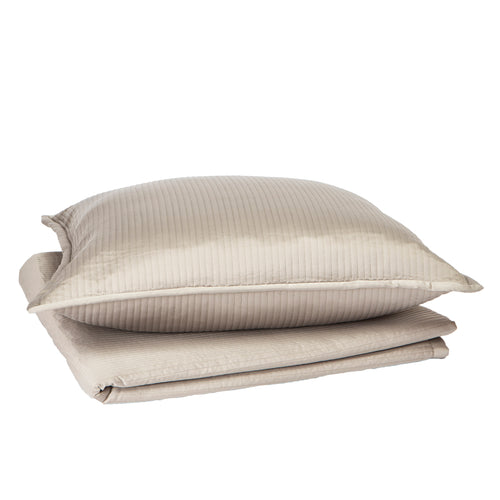 Product with title Linea Coverlet Set - Taupe