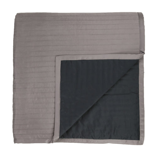 Product with title Charmeuse Channel Quilt Coverlet - CONQK-MET CONQQ-MET
