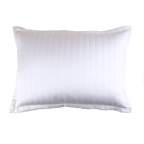 Product with title Charmeuse Channel Quilt Sham - SHNQK-WHI SHNQS-WHI