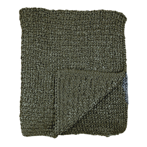 Product with title Knitted Silk Throw - THKS-OLI