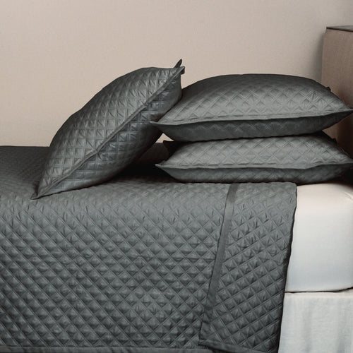 Product with title Double Diamond Coverlet Set - Charcoal
