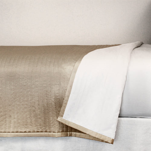 Product with title Charmeuse Channel Quilt Coverlet - CONQK-MYS CONQQ-MYS