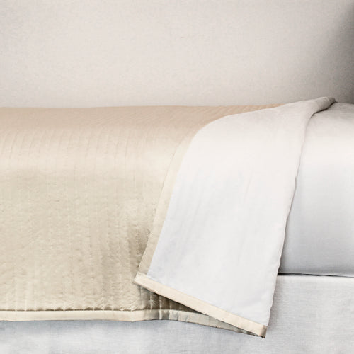 Product with title Charmeuse Channel Quilt Coverlet - CONQK-PUM