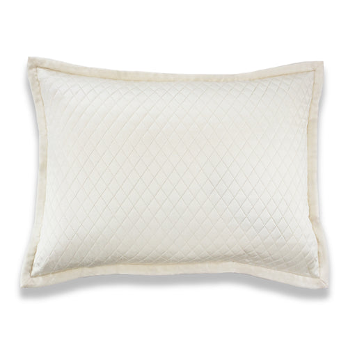 Product with title Charmeuse Quilted Sham - SHCQE-IVO SHCQK-IVO SHCQS-IVO