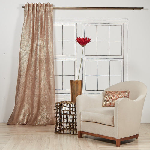 Product with title Sheer-Curtain-Panel-Gold - YCUSH108-GLD