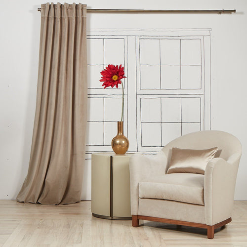Product with title Velvet-Curtain-Panel-Taupe - YCUVE108-TAU
