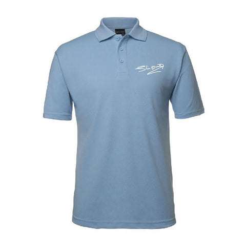 Signature Mens Sky Blue Polo Shirt