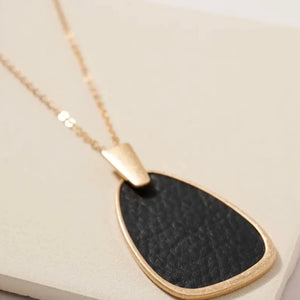 Leather Geo Necklace