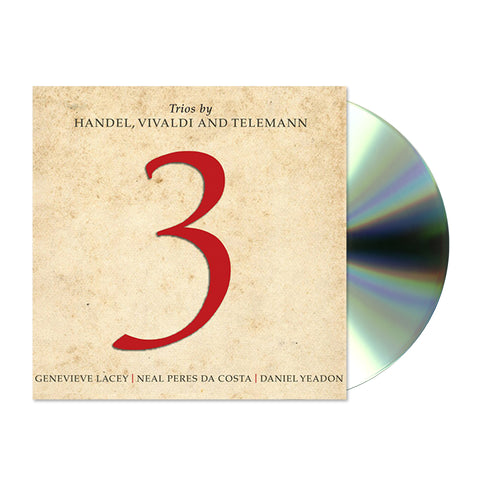 3 – Trios by Handel, Vivaldi and Telemann (CD)